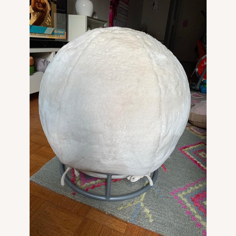 Pottery Barn Fluff Ball Chair - image-1