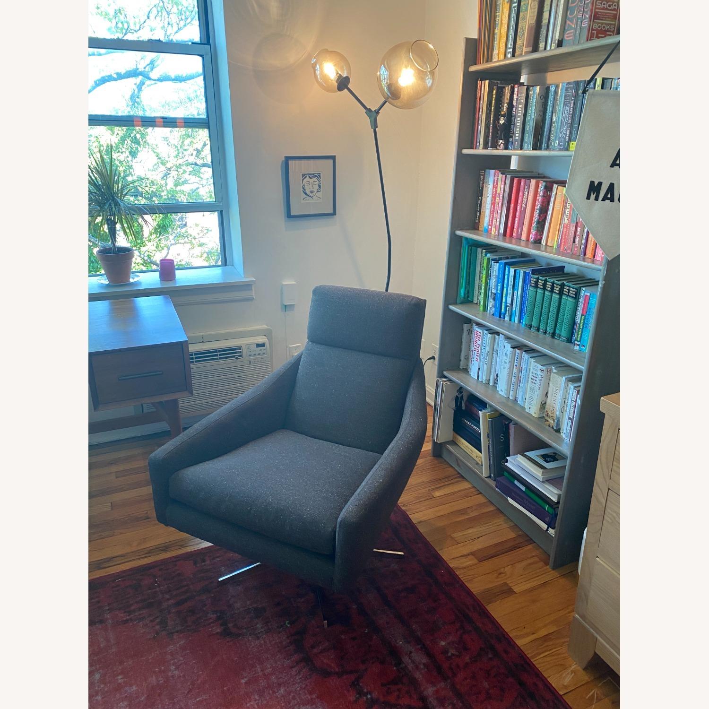 West Elm Austin Swivel Chair in Tweed Cacao - image-3