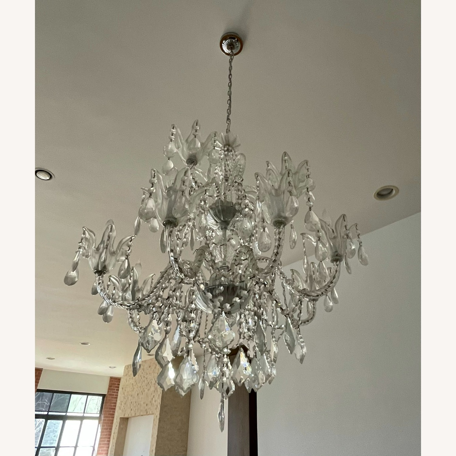 X-Large 12 Bulb Crystal 2-Tier Chandelier - image-1