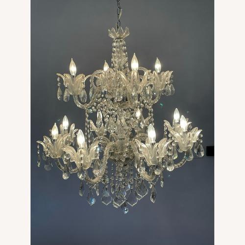 Used X-Large 12 Bulb Crystal 2-Tier Chandelier for sale on AptDeco