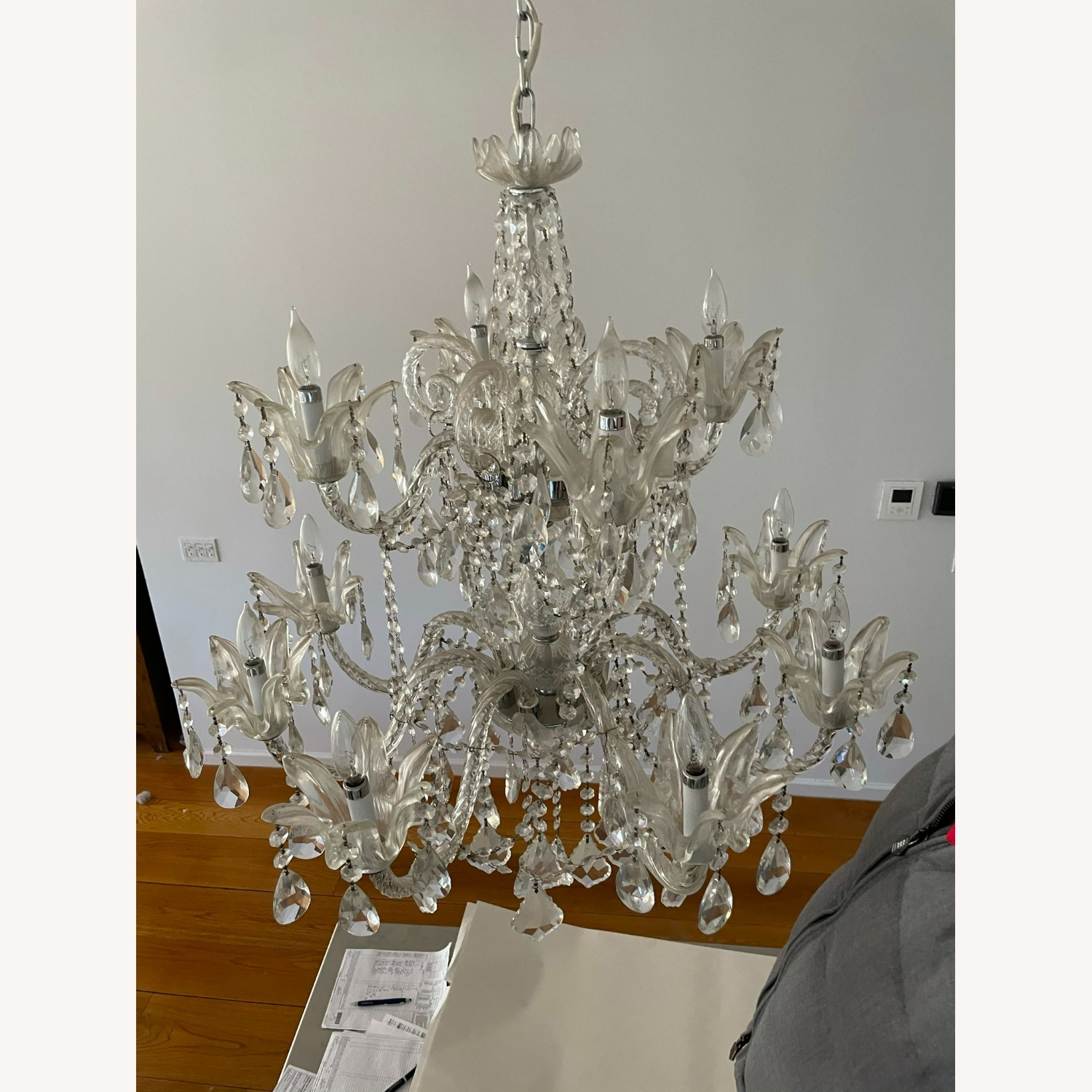 X-Large 12 Bulb Crystal 2-Tier Chandelier - image-10