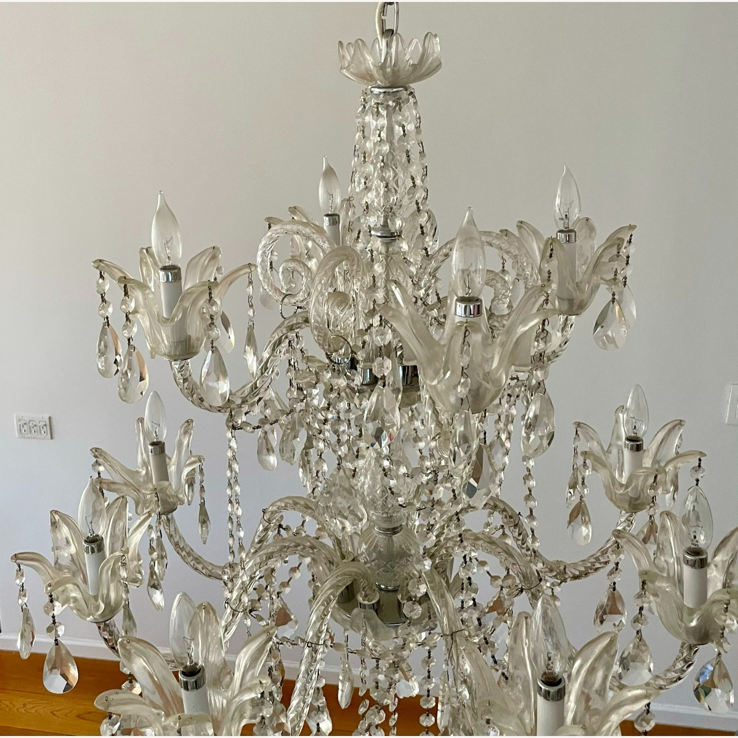 X-Large 12 Bulb Crystal 2-Tier Chandelier - image-7