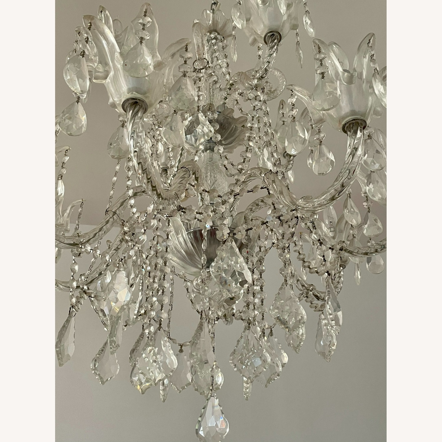 X-Large 12 Bulb Crystal 2-Tier Chandelier - image-6