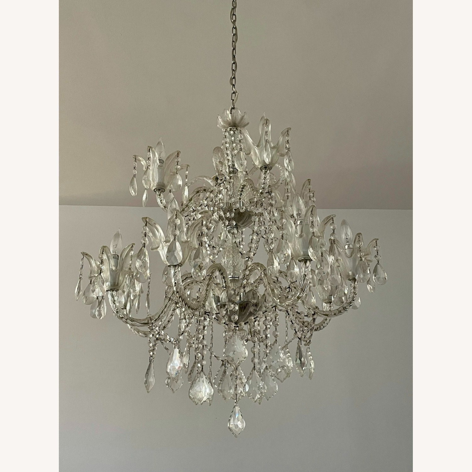 X-Large 12 Bulb Crystal 2-Tier Chandelier - image-3