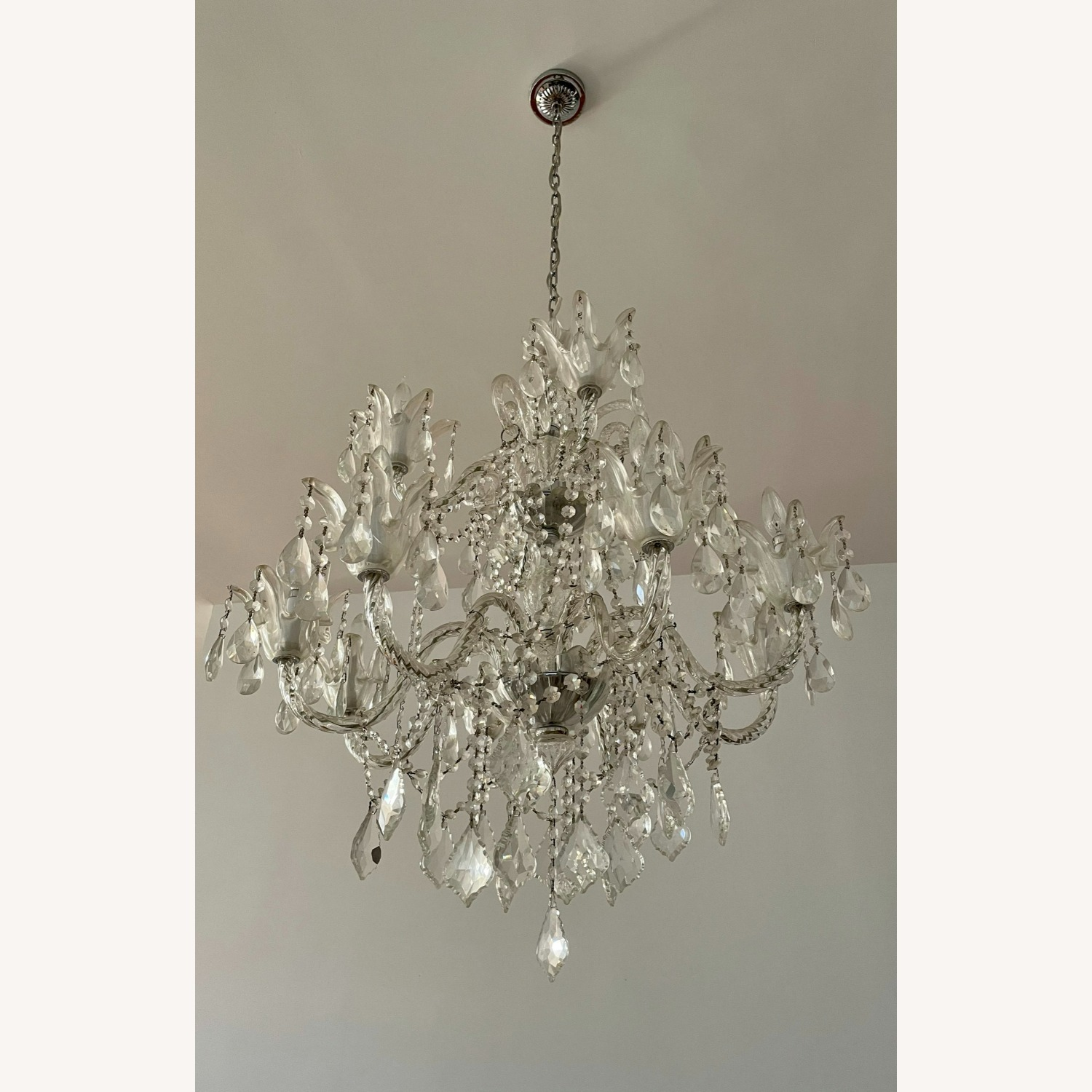 X-Large 12 Bulb Crystal 2-Tier Chandelier - image-9