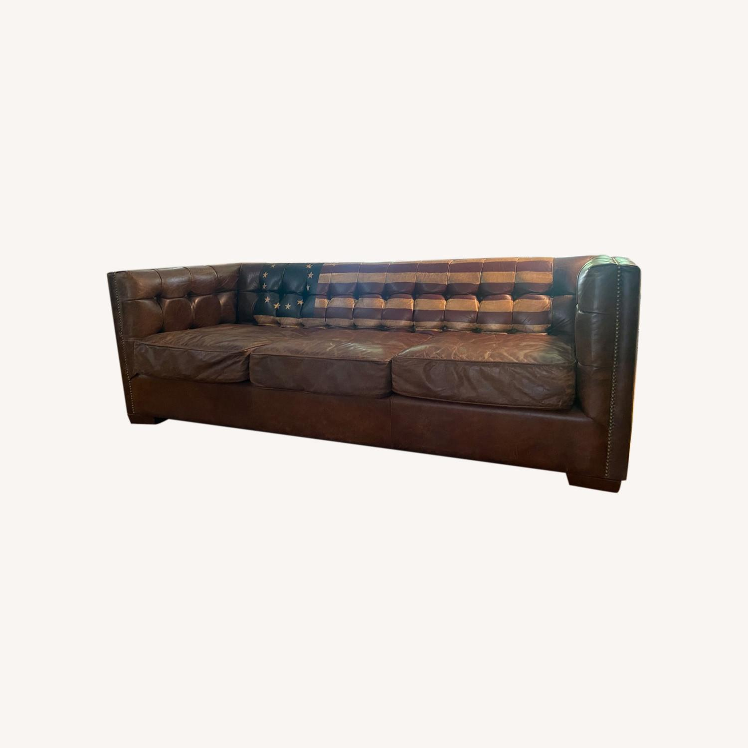 Andrew Martin Leather Armstrong Sofa - image-0