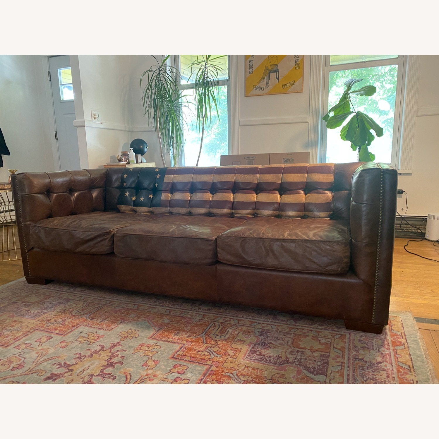 Andrew Martin Leather Armstrong Sofa - image-2