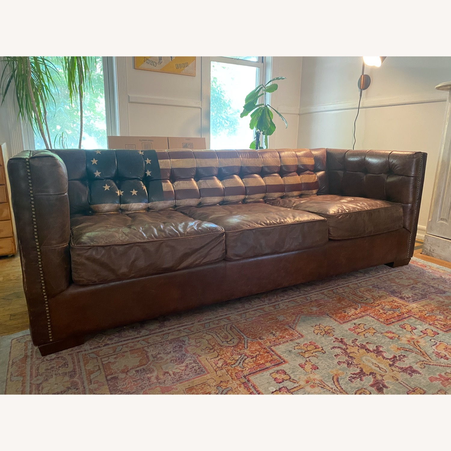 Andrew Martin Leather Armstrong Sofa - image-1