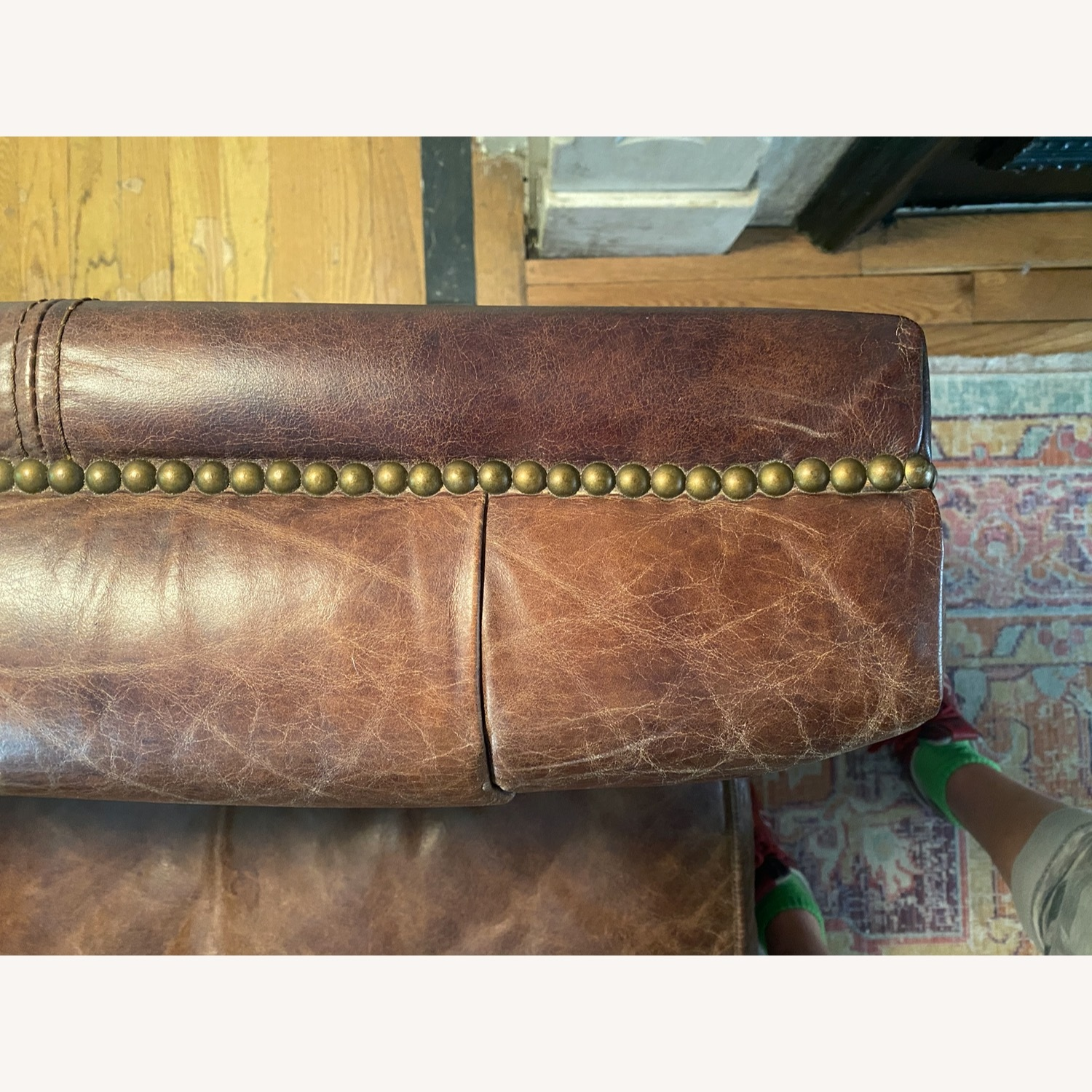 Andrew Martin Leather Armstrong Sofa - image-3