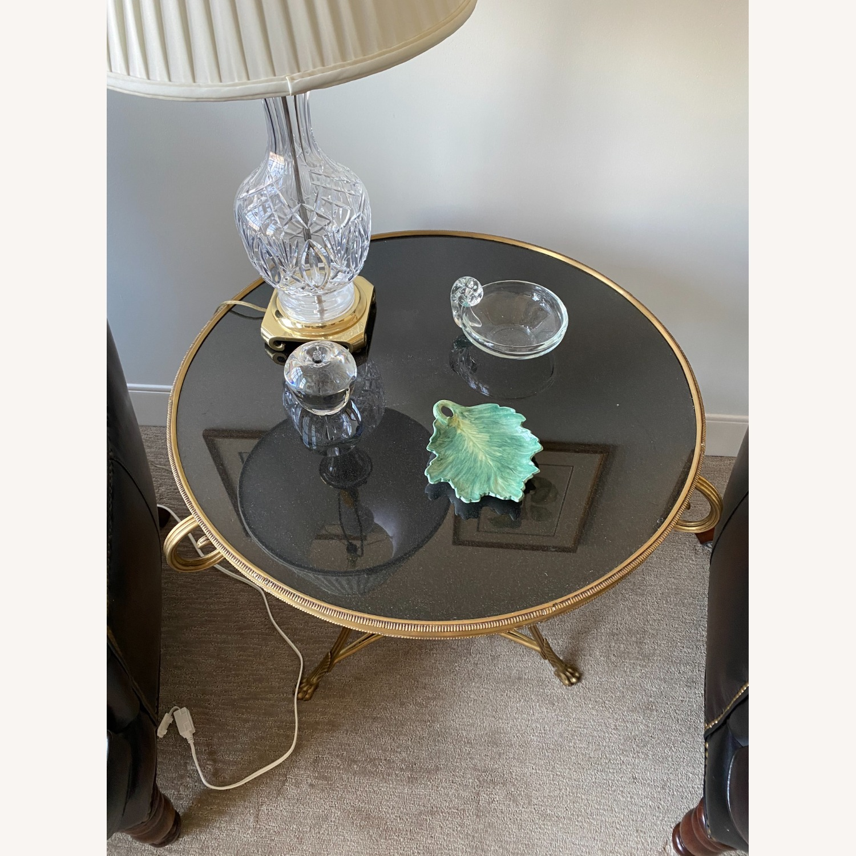 Global Views Brass & Black Granite Gueridon Table - image-2