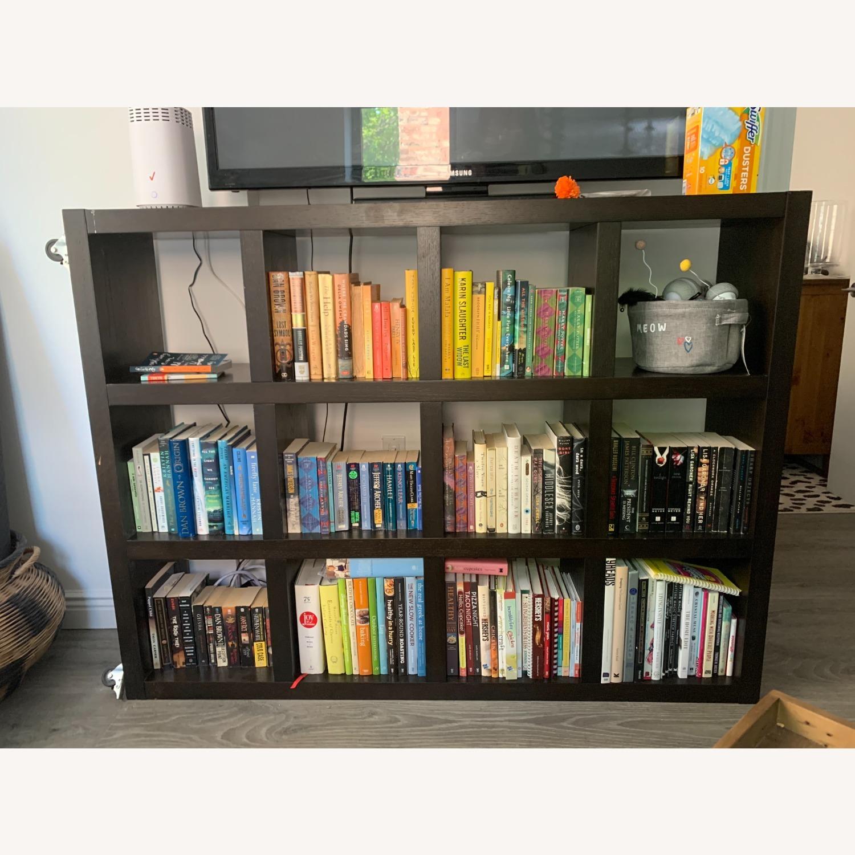 West Elm Rolling Storage Bookcase - image-0