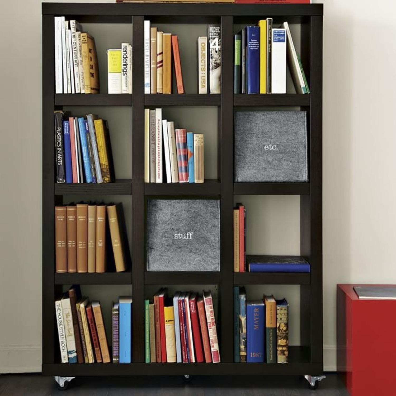 West Elm Rolling Storage Bookcase - image-9