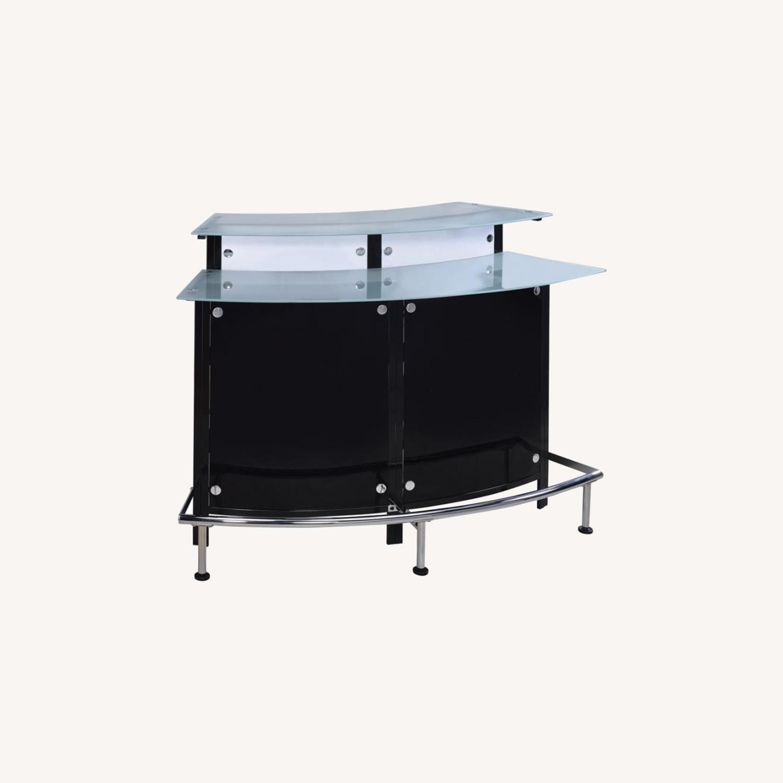 Bar Unit In Black & White Acrylic Finish - image-4