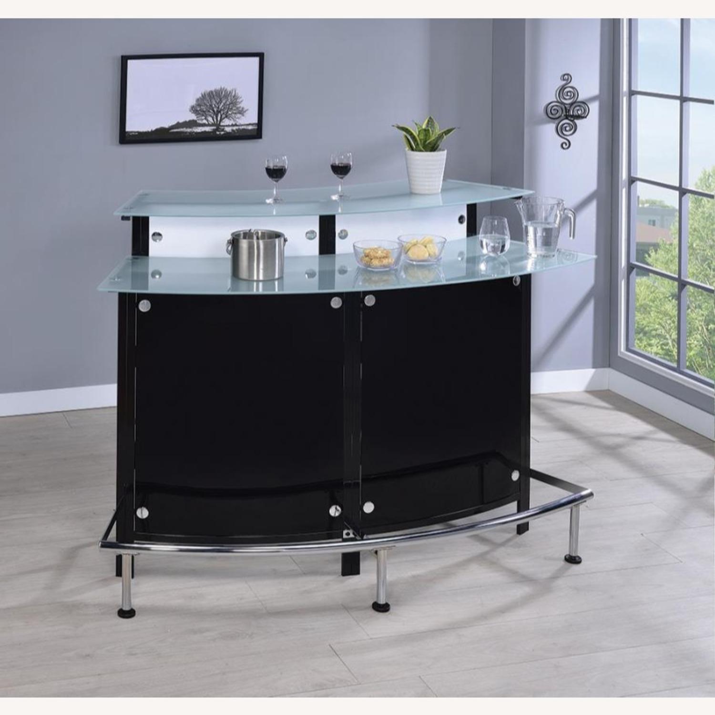 Bar Unit In Black & White Acrylic Finish - image-2