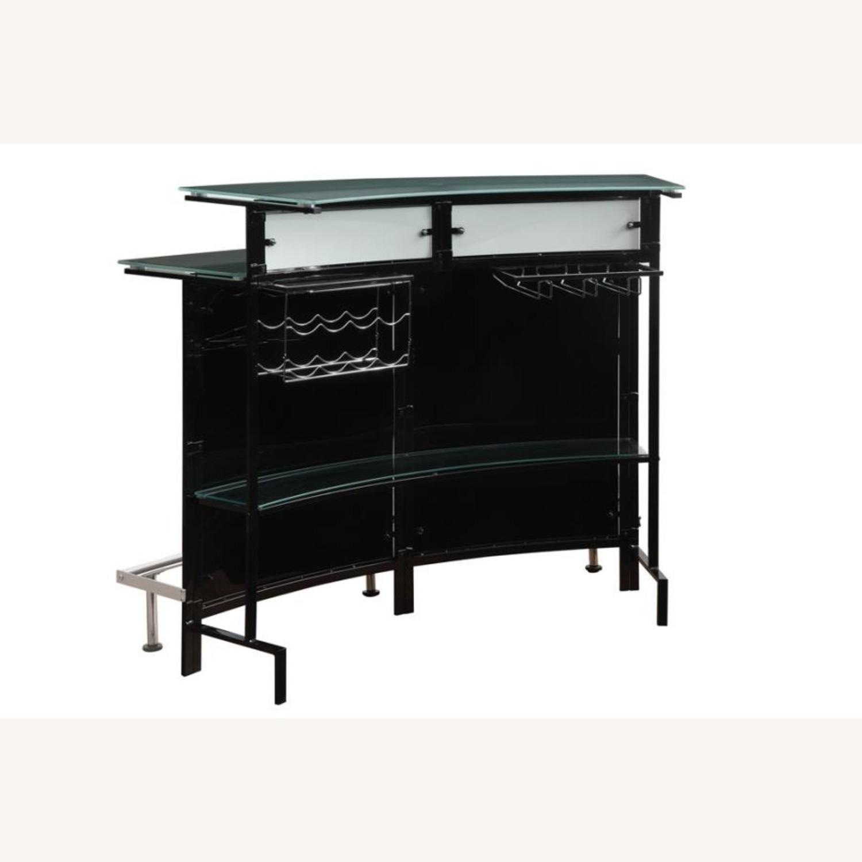 Bar Unit In Black & White Acrylic Finish - image-1