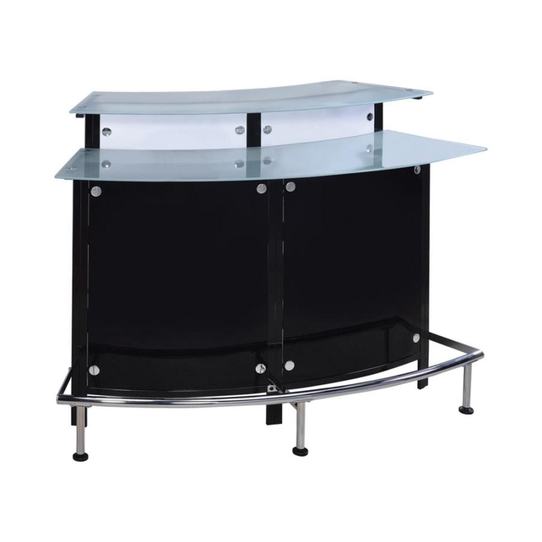 Bar Unit In Black & White Acrylic Finish - image-0