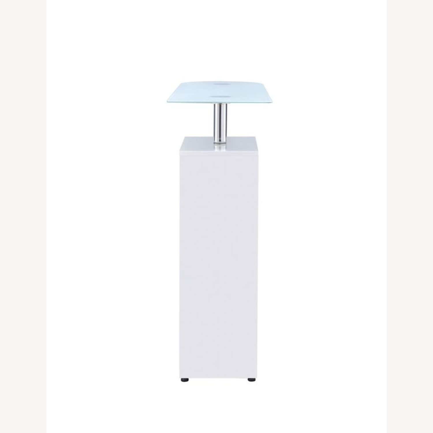 Bar Table In High Gloss White Lacquer Finish - image-4