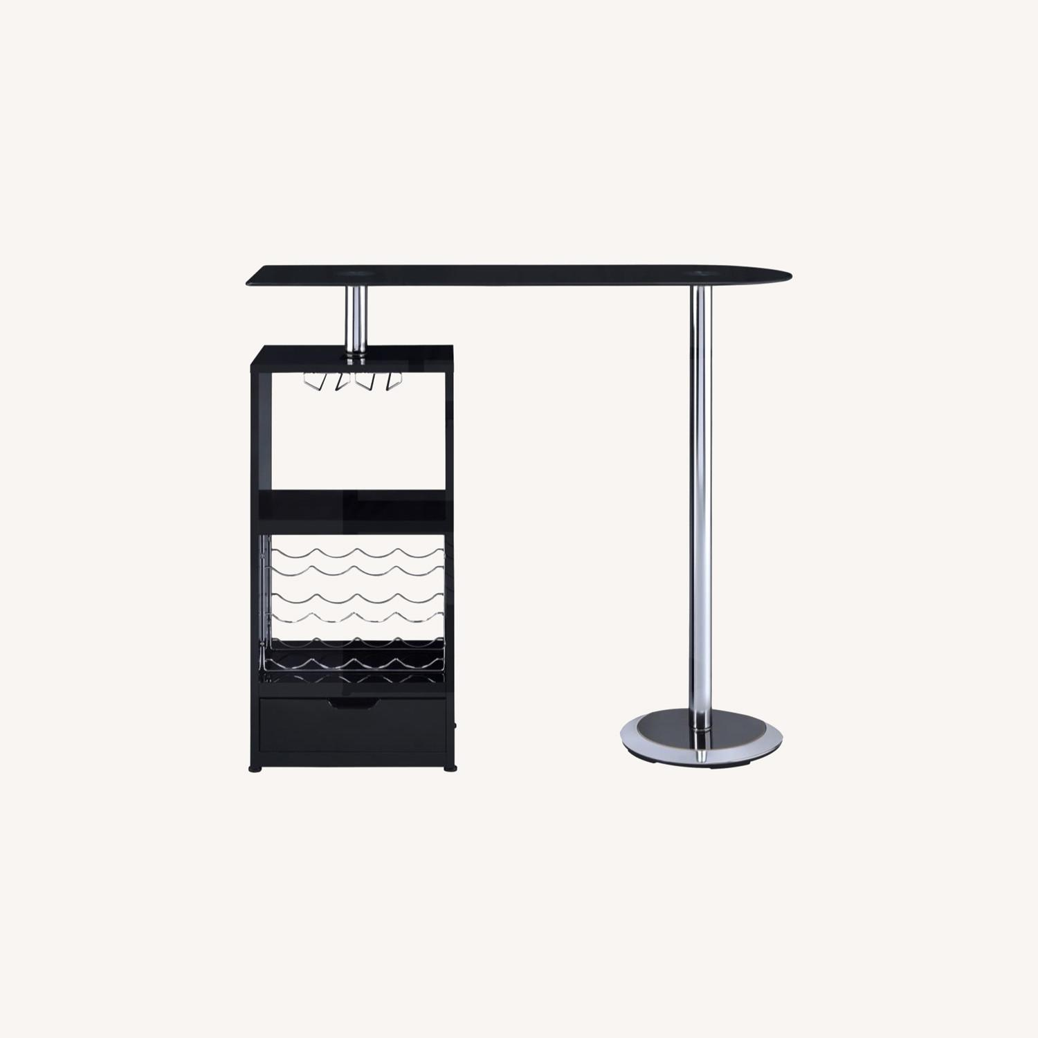 Bar Table In High Gloss Black Lacquer Finish - image-8