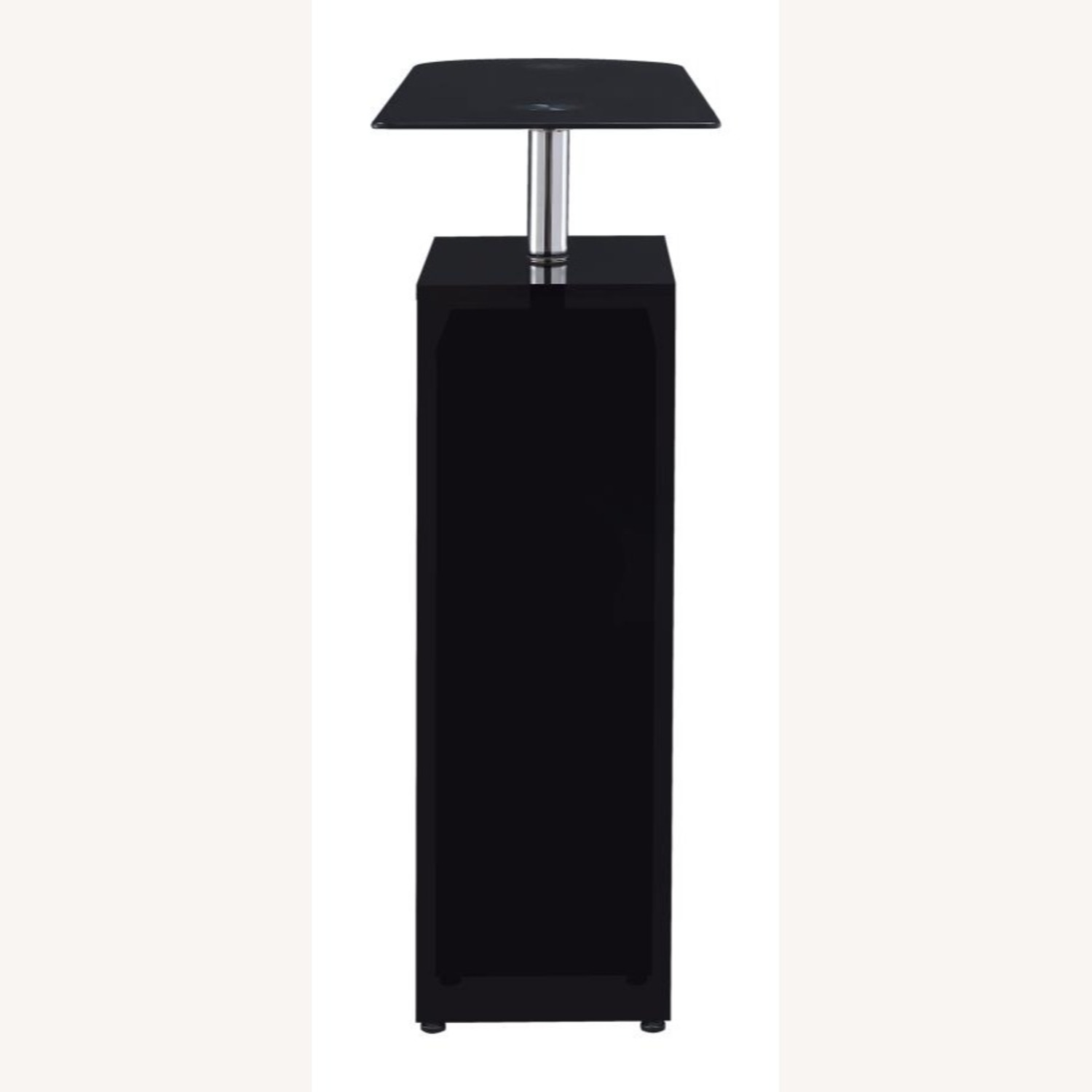 Bar Table In High Gloss Black Lacquer Finish - image-5