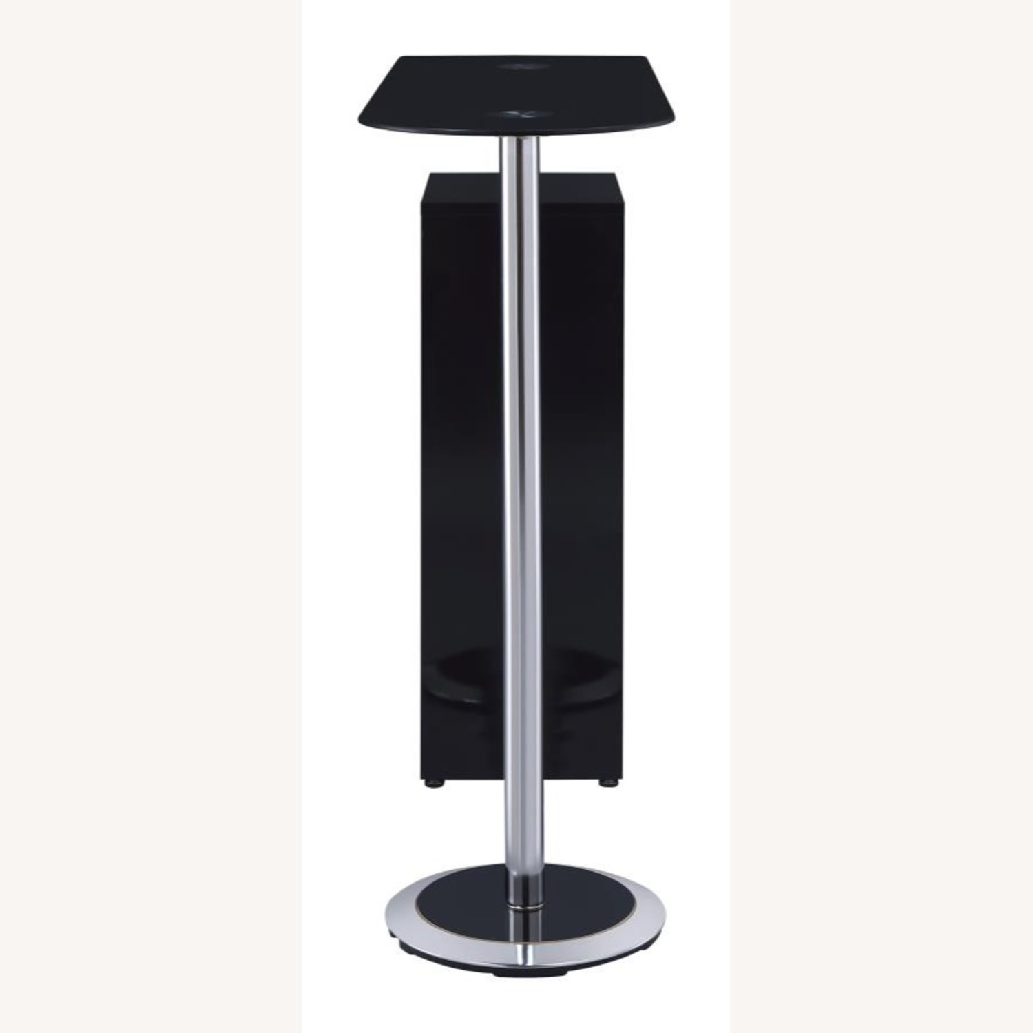 Bar Table In High Gloss Black Lacquer Finish - image-3