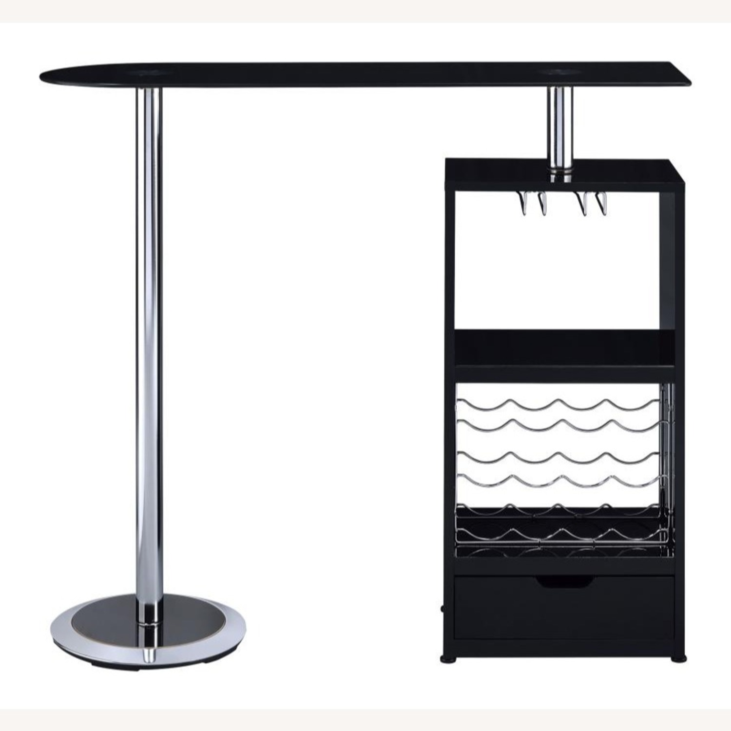 Bar Table In High Gloss Black Lacquer Finish - image-4