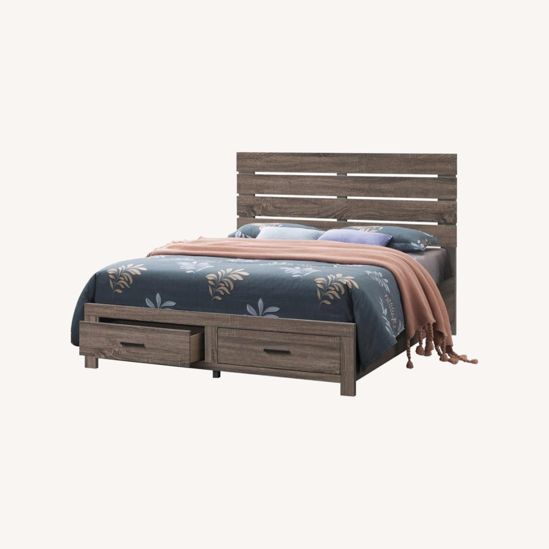 Storage Queen Bed In Barrel Oak Finish - image-4