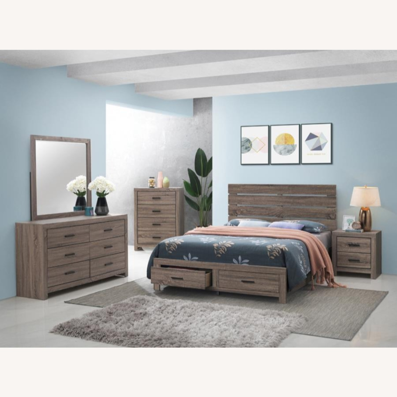 Storage Queen Bed In Barrel Oak Finish - image-2
