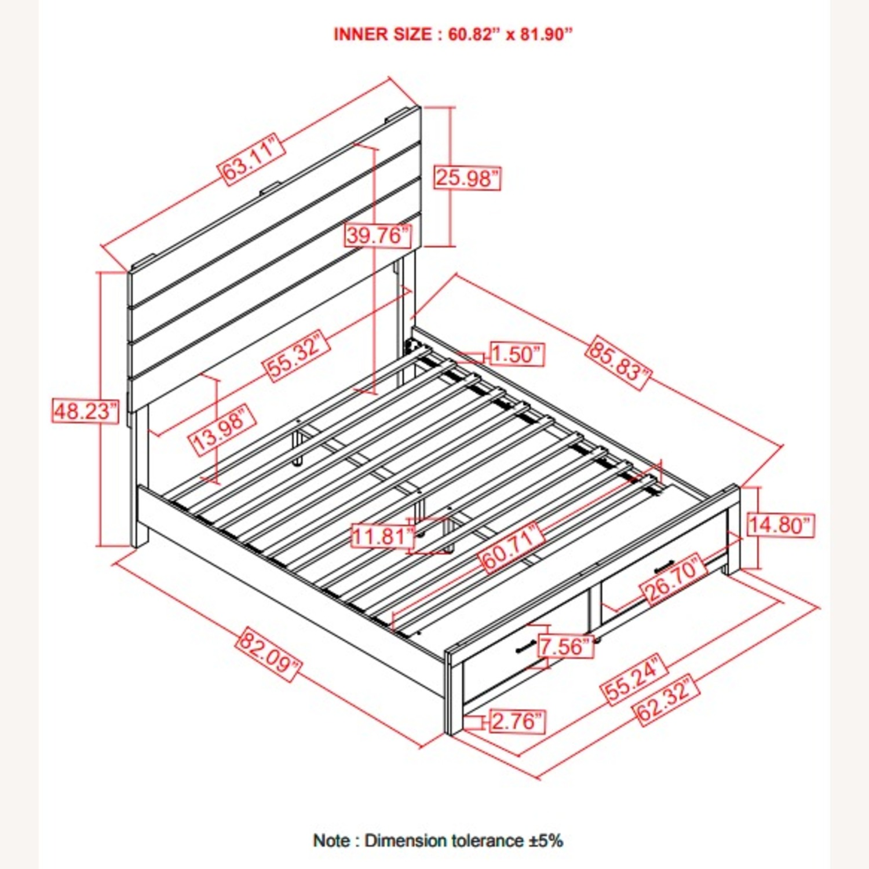 Storage Queen Bed In Barrel Oak Finish - image-3