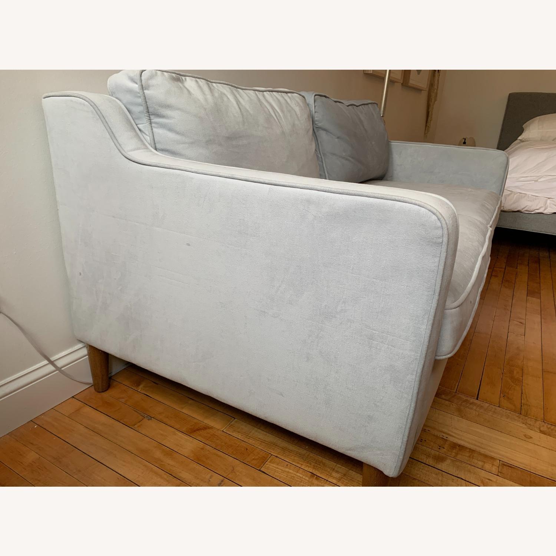 West Elm Paidge Sofa, Light Blue Velvet - image-3