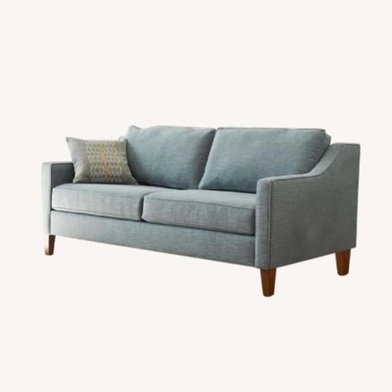 West Elm Paidge Sofa, Light Blue Velvet - image-0