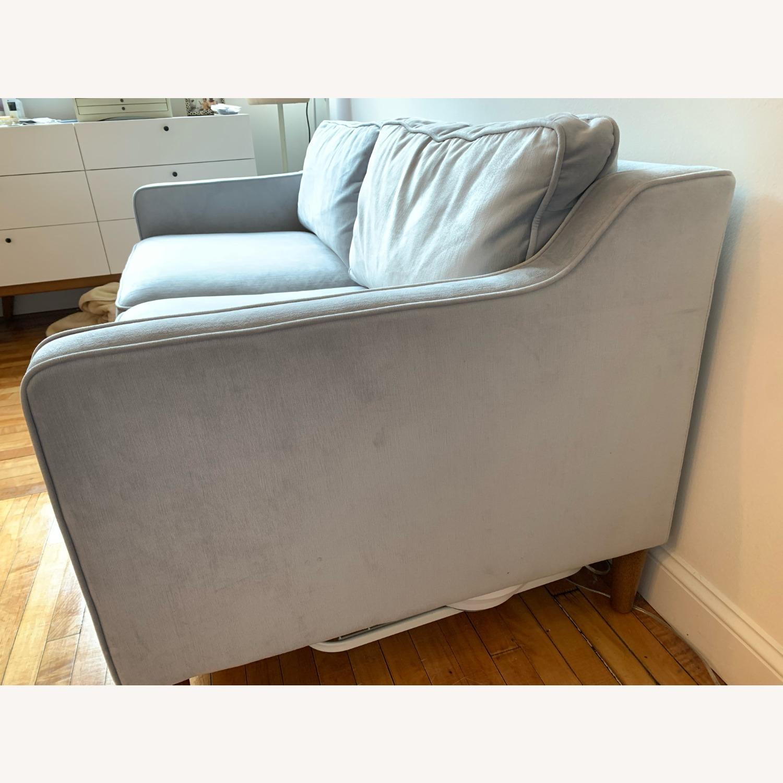West Elm Paidge Sofa, Light Blue Velvet - image-4