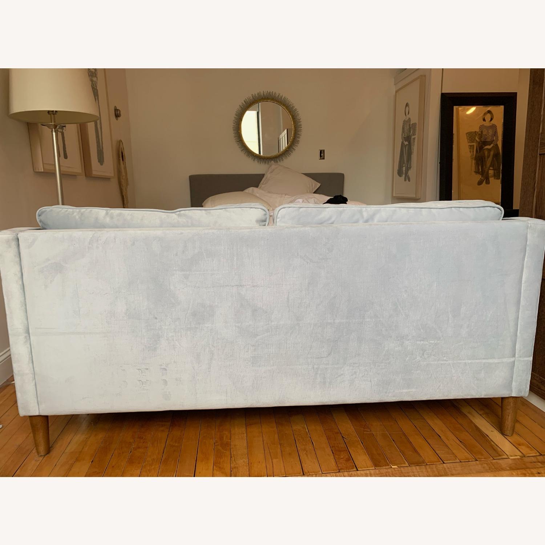West Elm Paidge Sofa, Light Blue Velvet - image-5