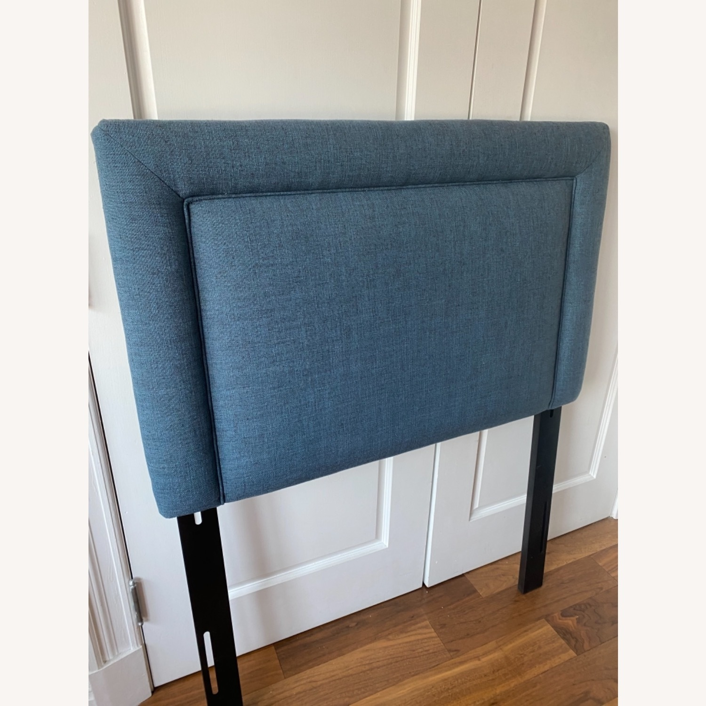 Wayfair Blue Fabric Twin Size Headboard - image-3