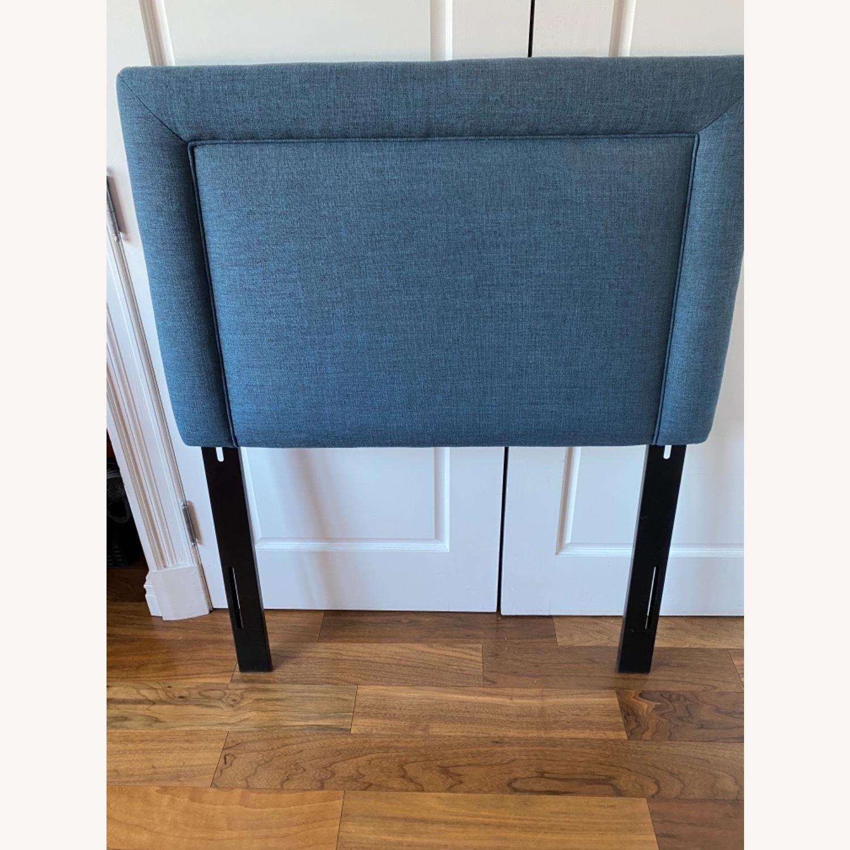 Wayfair Blue Fabric Twin Size Headboard - image-0