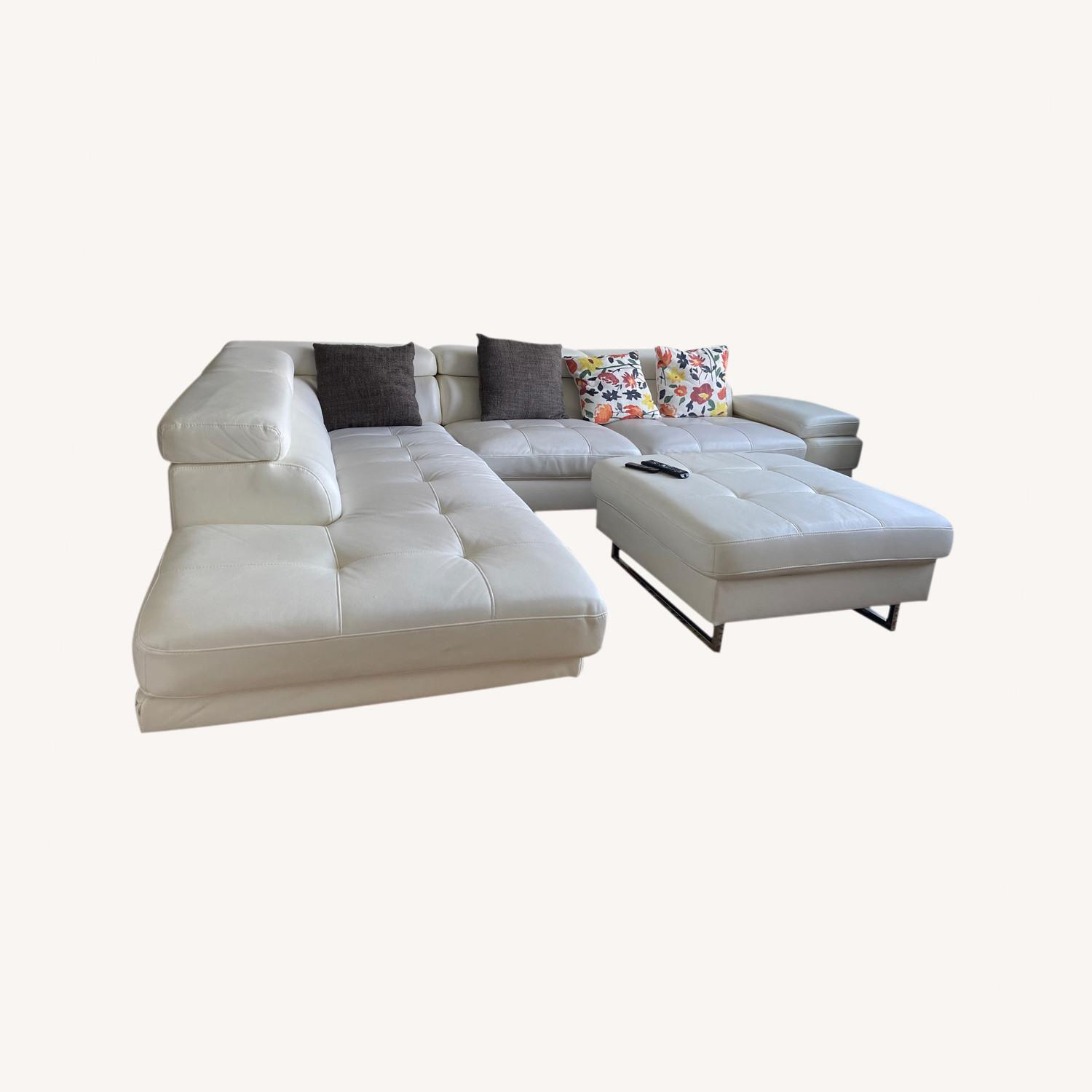 Luxury Couch and Ottoman - image-0