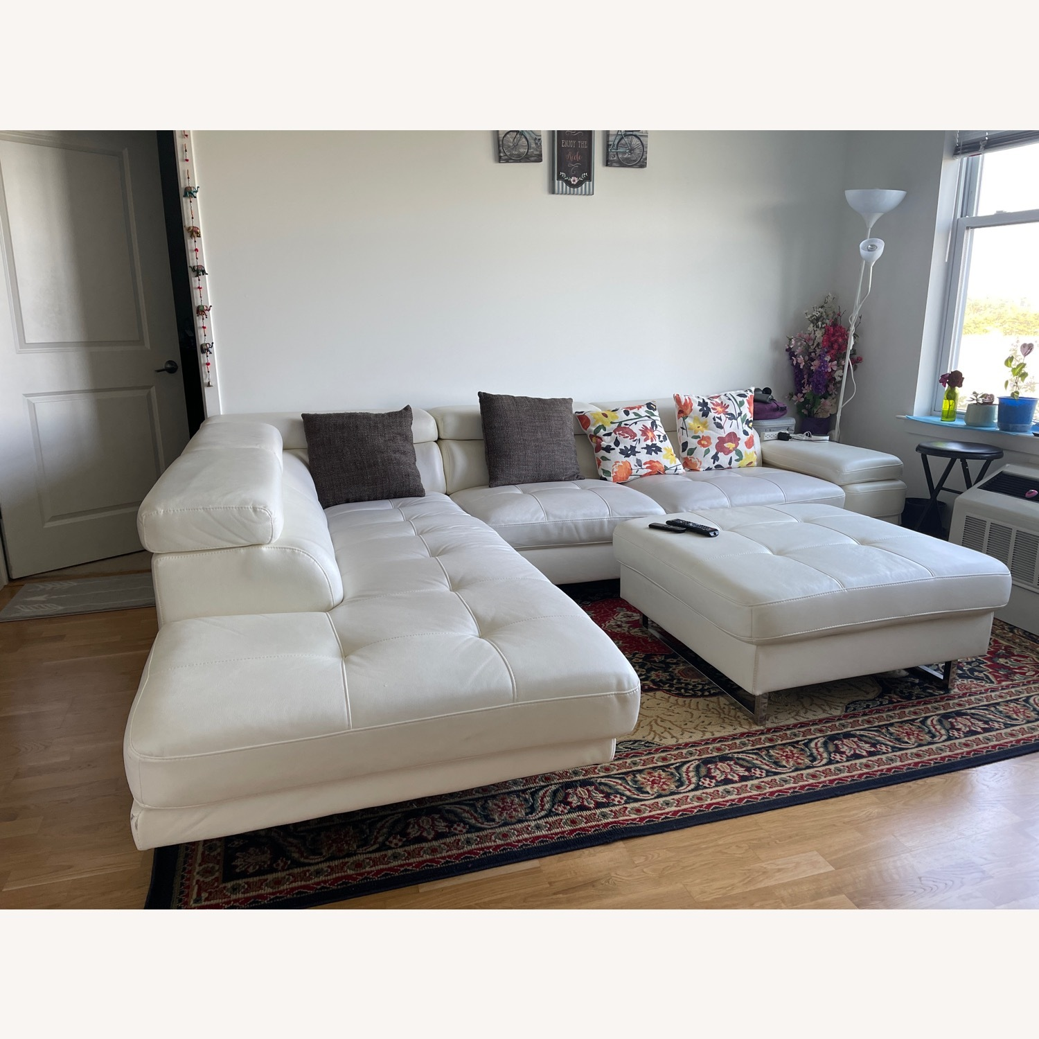 Luxury Couch and Ottoman - image-1