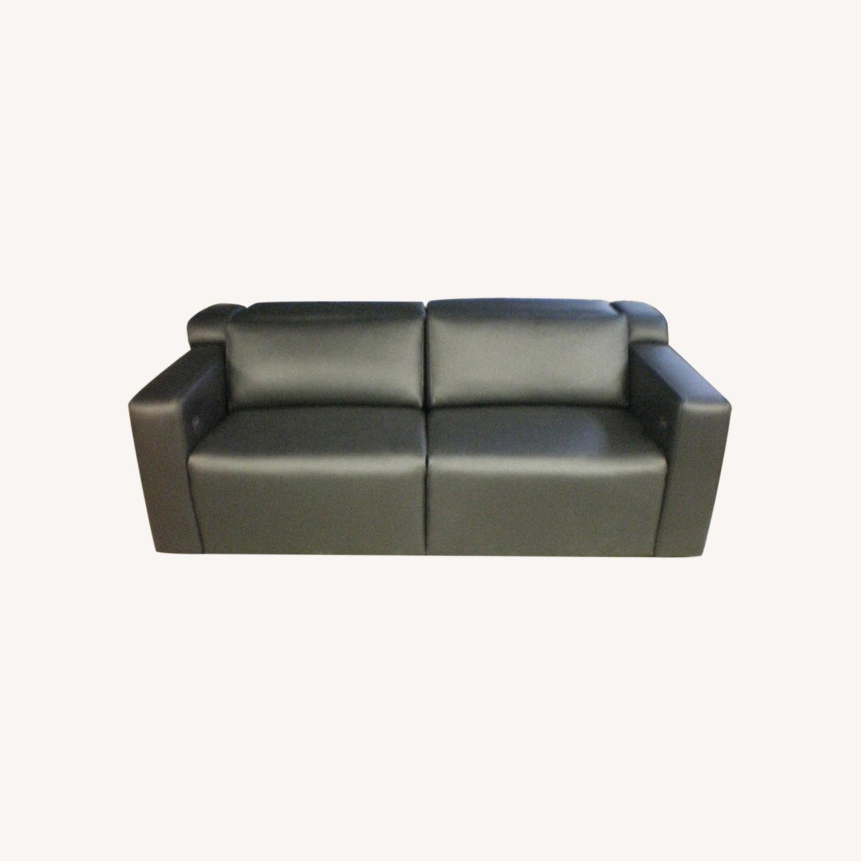 Leather Motorized Reclining Sofa by Cineak - image-0