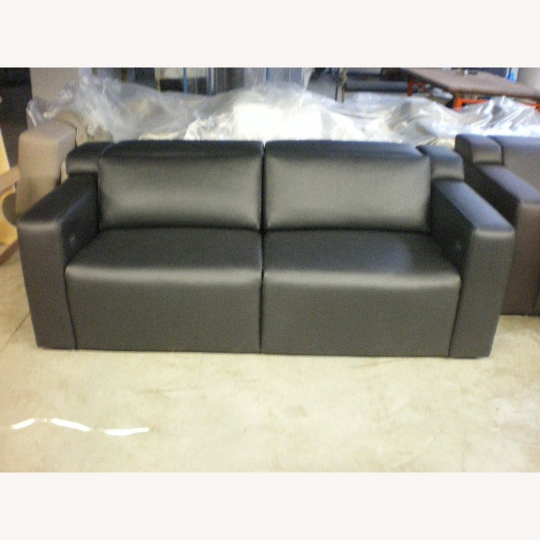 Leather Motorized Reclining Sofa by Cineak - image-1