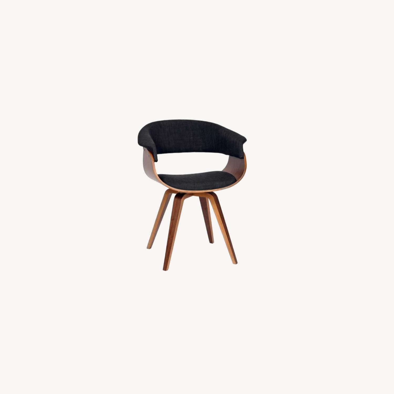 Mid Century Modern Dining Chair in Dark Grey - image-0