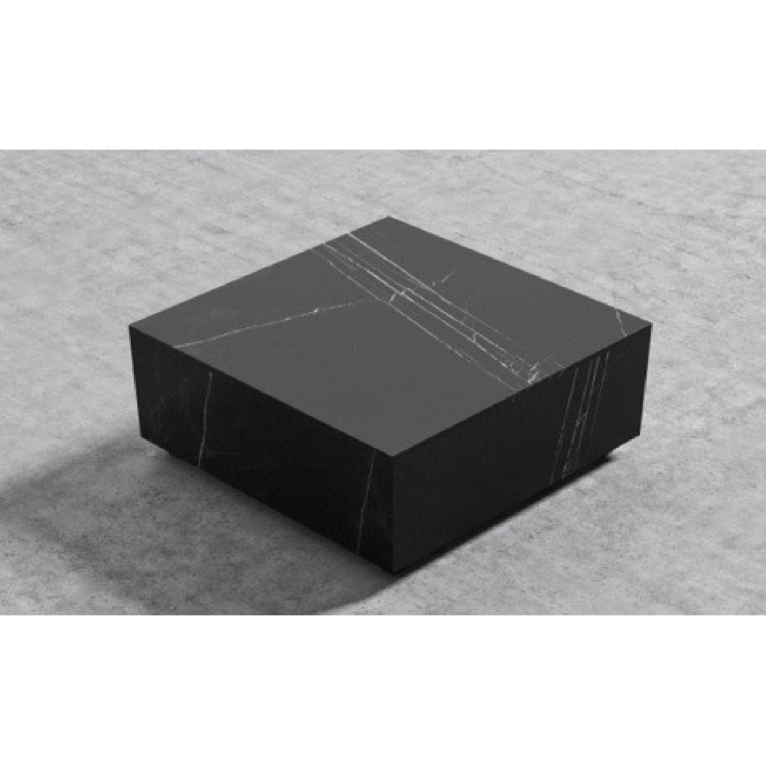 Rove Concept Black Marble Glossy Coffee Table - image-7