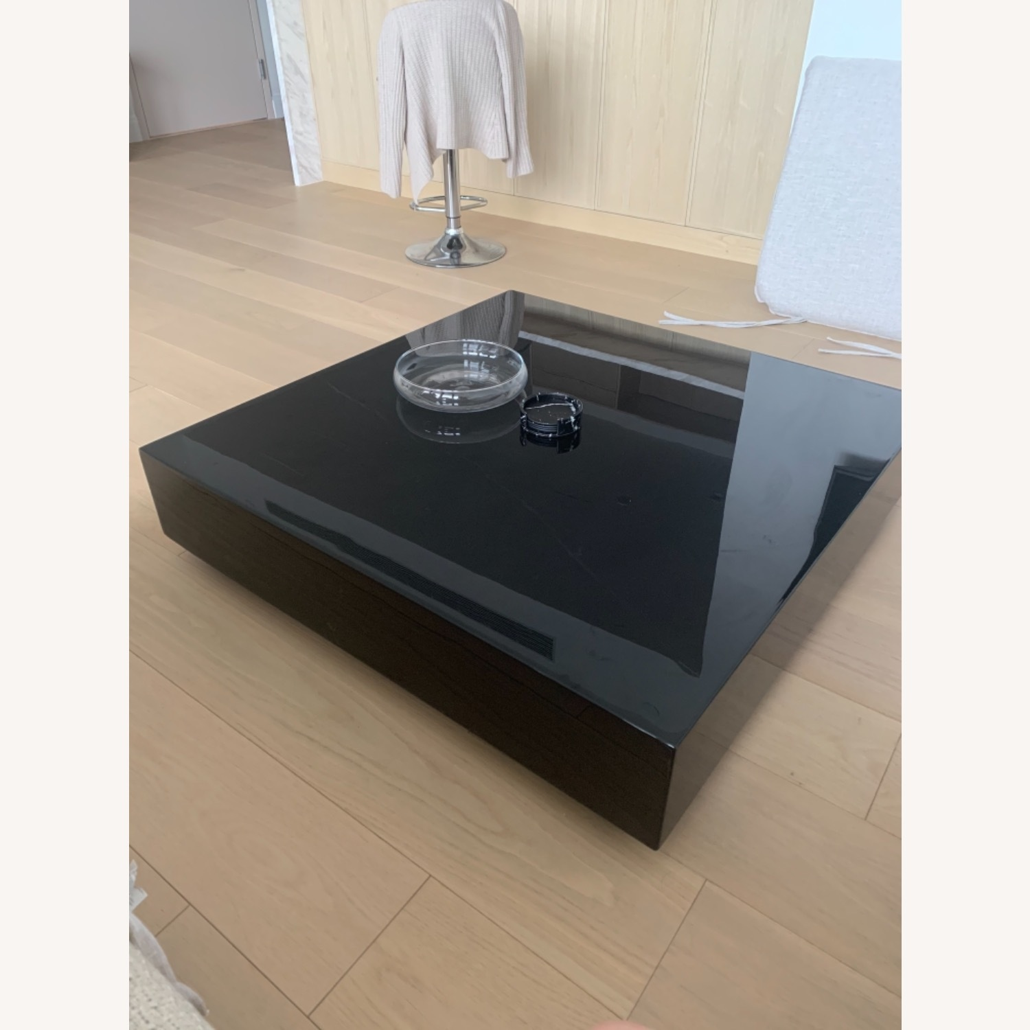 Rove Concept Black Marble Glossy Coffee Table - image-1