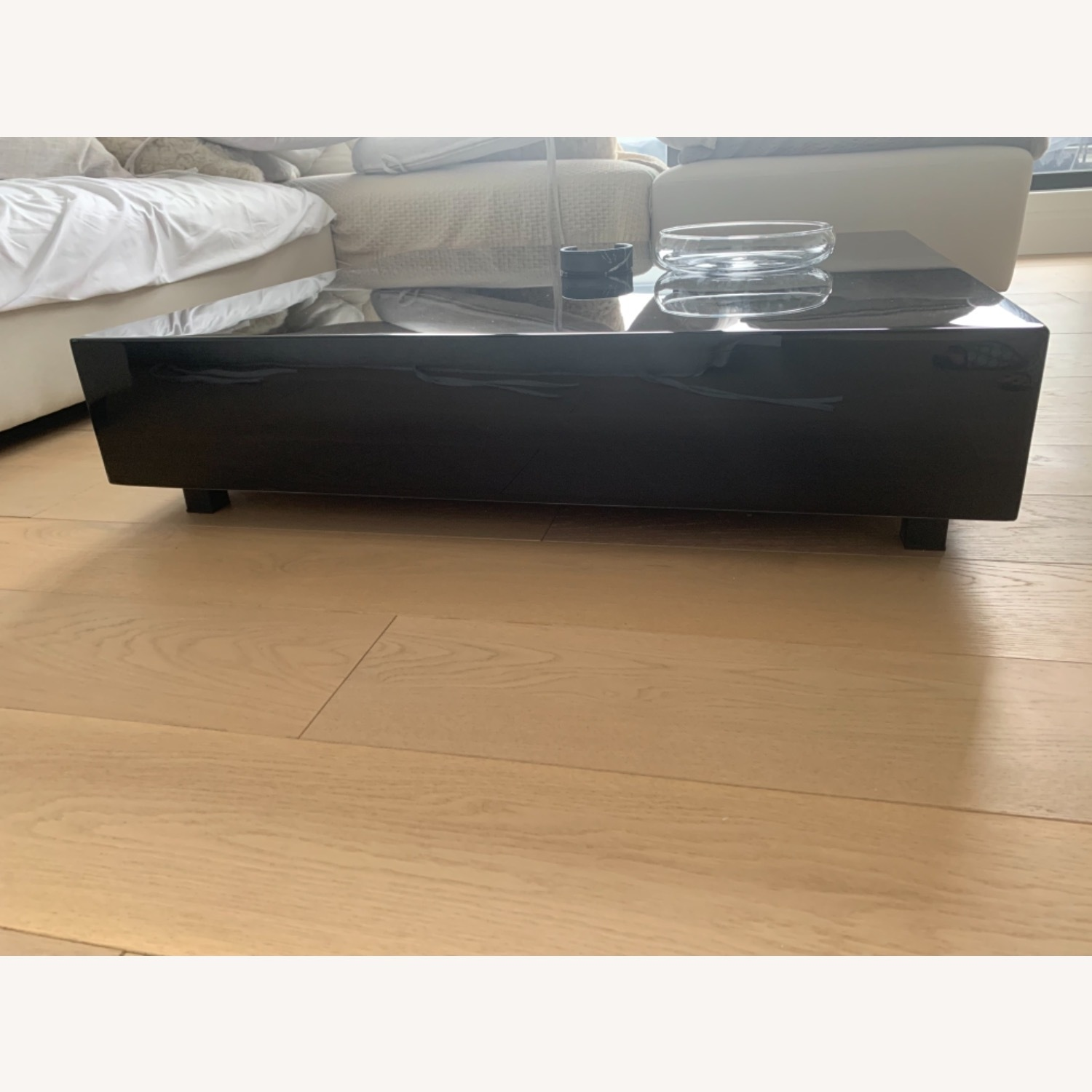 Rove Concept Black Marble Glossy Coffee Table - image-5
