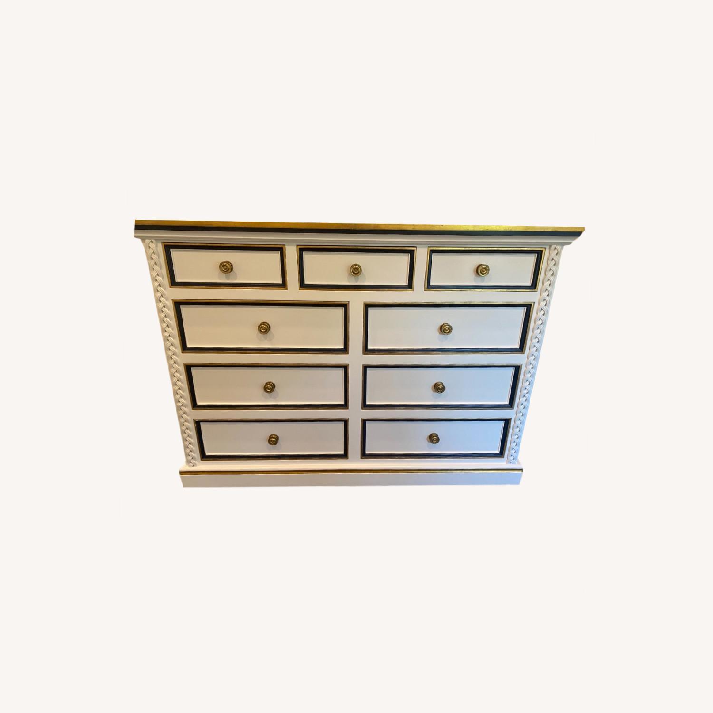 AFK White/Navy/Gold Dresser - image-0