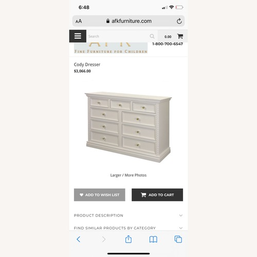 Used AFK White/Navy/Gold Dresser for sale on AptDeco