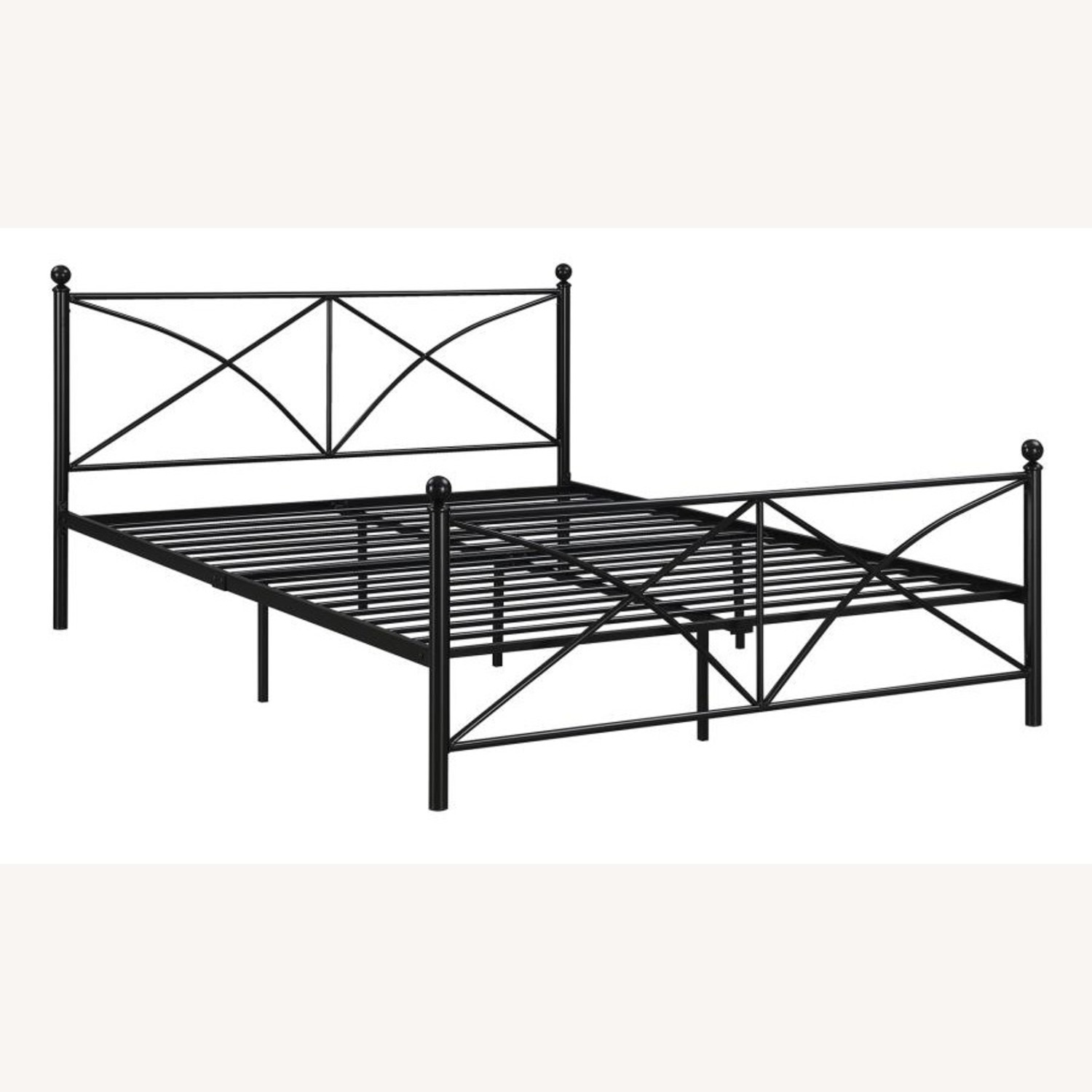 Queen Bed In Matte Black Powder Coated Finish - image-1