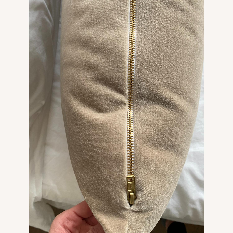 XL Lumbar Pillow - Mohair Velvet // Stone - image-4