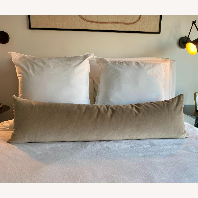 XL Lumbar Pillow - Mohair Velvet // Stone - image-1