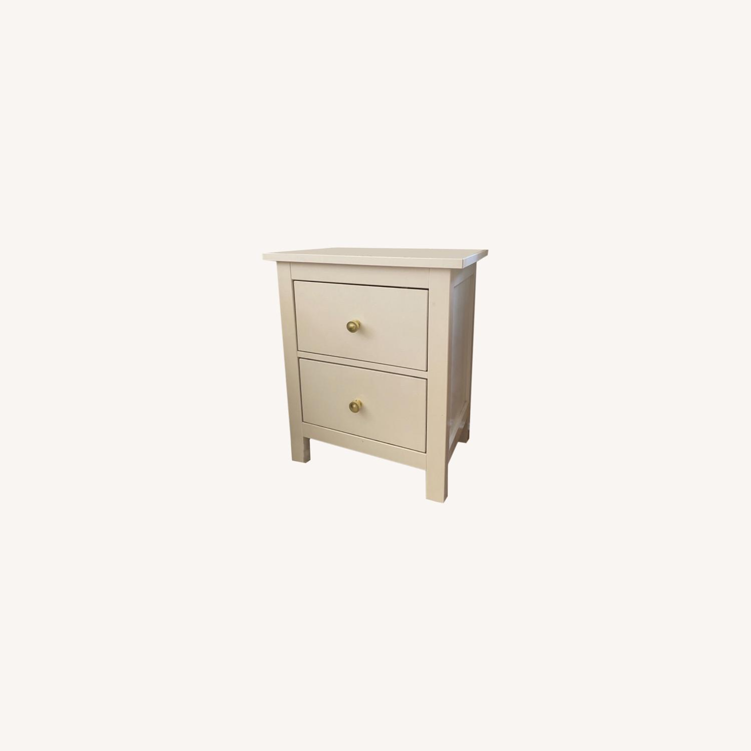 IKEA Hemnes Nightstand with Gold Knobs - image-0