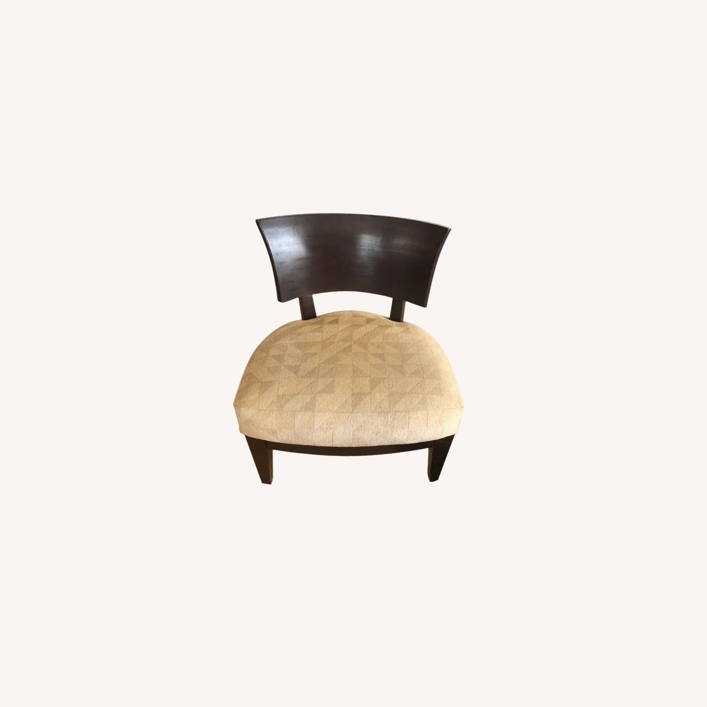 Stunning Wood Custom Upholstered Chairs - image-0