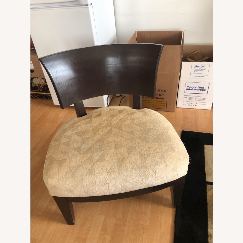 Stunning Wood Custom Upholstered Chairs - image-1